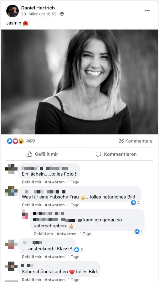 Kommentare zum Portrait von Jasmin